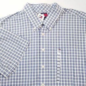 Tommy Hilfiger Blue Plaid Sport Shirt Cotton